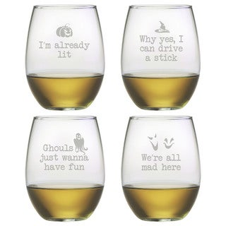 Ghoul's Night Out Stemless Wine Glass (Set of 4)