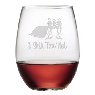 I Shih Tzu Not Stemless Wine Glass (Set of 4)