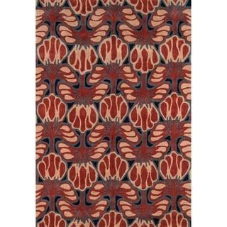 Momeni Rio Red Hand-Tufted Rug (8' X 10')