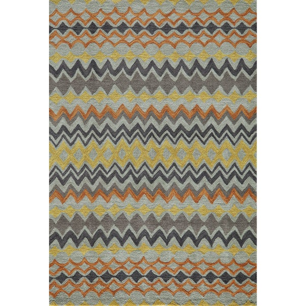 Momeni Rio Multicolor Hand-Tufted Rug (5' X 7'6)