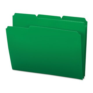 Smead Green Waterproof Poly File Folders (Box of 24)