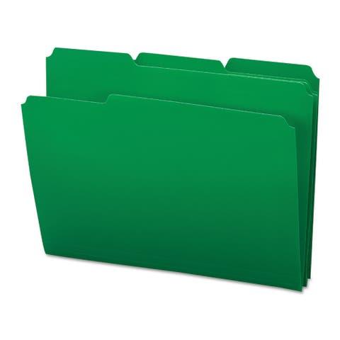 Smead Green Waterproof Poly File Folders (Box of 24)