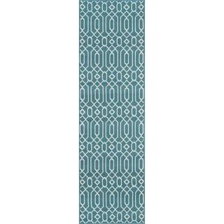 Momeni Baj Linksa Blue Indoor/Outdoor Area Runner Rug (2'3 x 7'6)