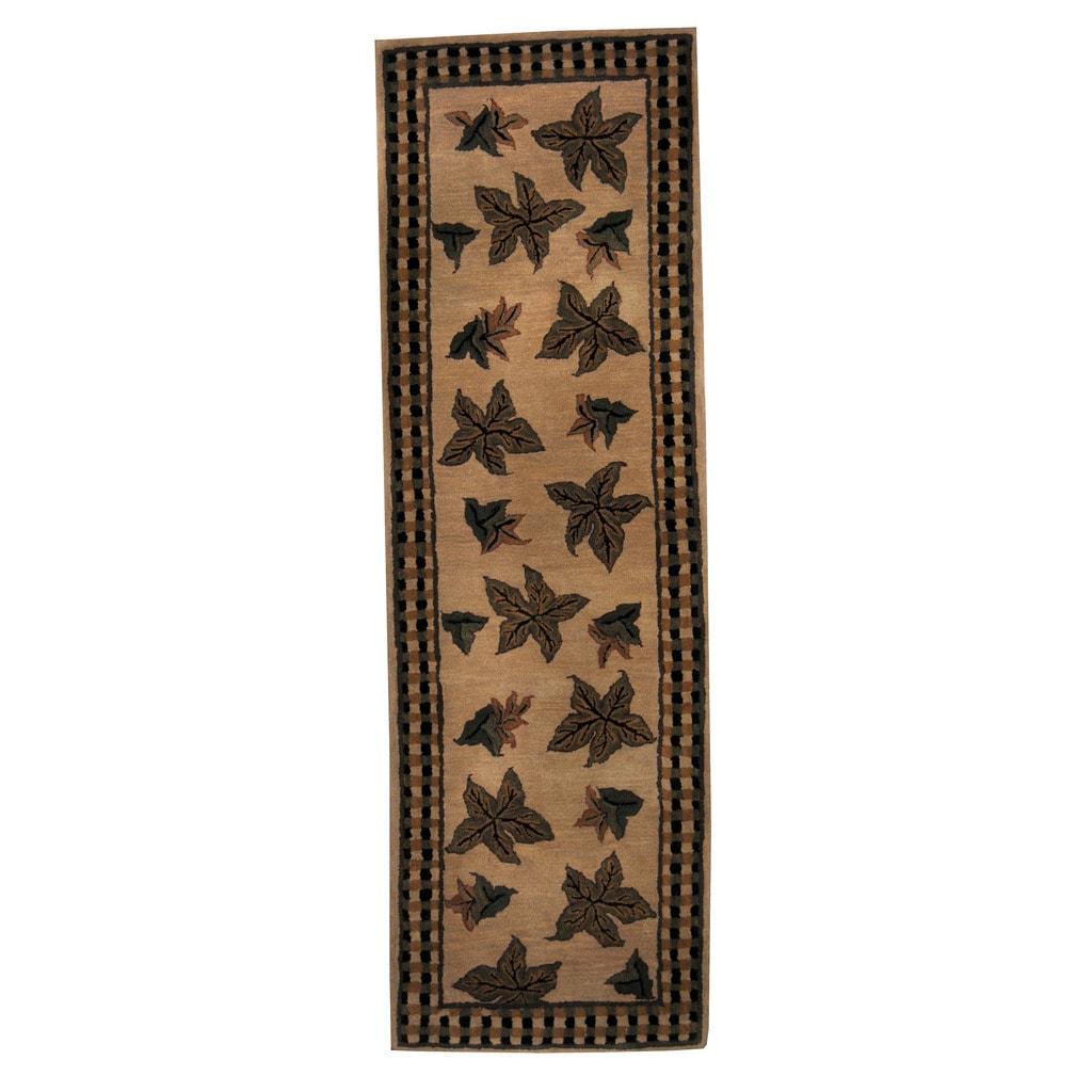 Herat Oriental Indo Hand-tufted Tibetan Wool Runner (2'7 ...