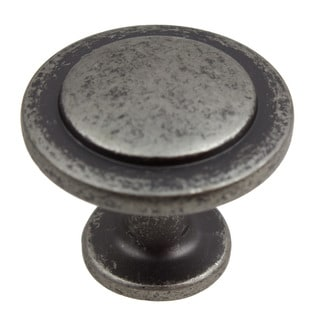 GlideRite 1.25-inch Weathered Nickel Classic Round Ring Cabinet Knob (Pack of 10 or 25)