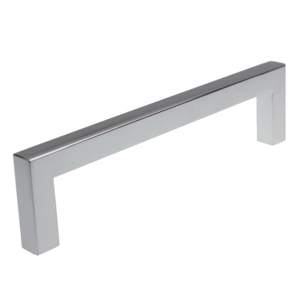 5 10 25 Cabinet Pull Square Drawer Handles Kitchen: Shop GlideRite 5-inch Polished Chrome Solid Square Cabinet