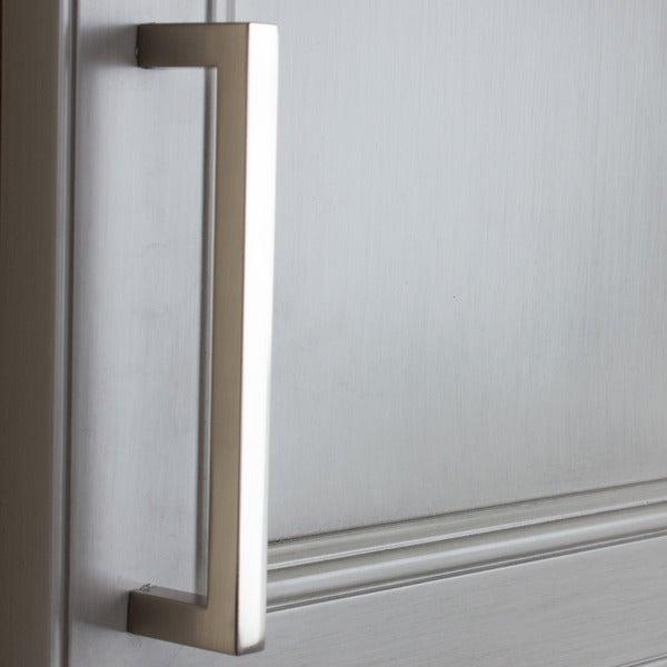 GlideRite 5 Satin Nickel Solid Square Cabinet Bar Pull Handle ...