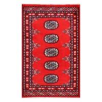 Herat Oriental Pakistani Hand-knotted Bokhara Wool Rug - 2' x 3'2
