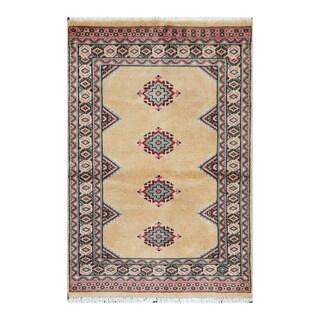 Handmade One-of-a-Kind Bokhara Wool Rug (Pakistan) - 2'6 x 3'8
