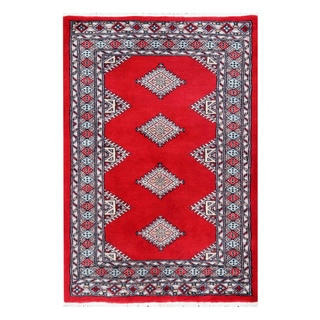Handmade One-of-a-Kind Bokhara Wool Rug (Pakistan) - 2'8 x 3'11