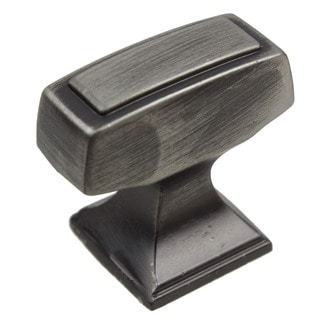 GlideRite Satin Pewter Rectangle Deco Cabinet Knob (Pack of 10 or 25)