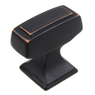 GlideRite Oil Rubbed Bronze Rectangle Deco Cabinet Knob (Pack of 10 or 25)