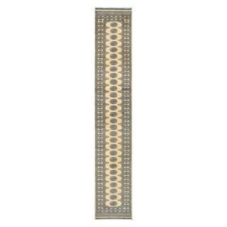 Herat Oriental Pakistani Hand-knotted Bokhara Gold/ Ivory Wool Rug (2'6 x 14'6)
