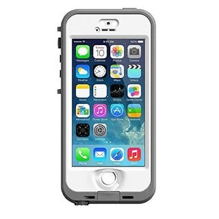 Apple iPhone 5/5s 16GB Unlocked GSM Phone Silver/White + LifeProof Nuud Case