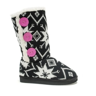 Muk Luks Girls' Black Malena Boots