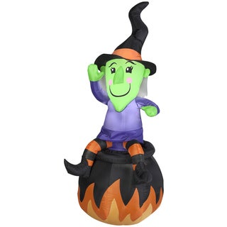 Witch On Cauldron