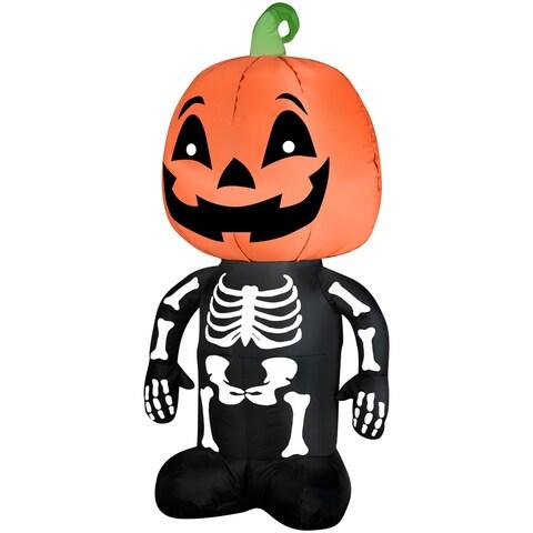 Pumpkin Boy Skeleton