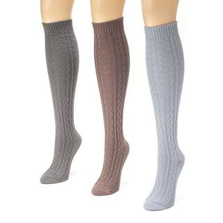 Muk Luks Women's Microfiber Boot Sock Pack (Pack of 3)