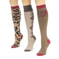 Muk Luks Women's Love Safari Knee High Socks (Pack of 3)