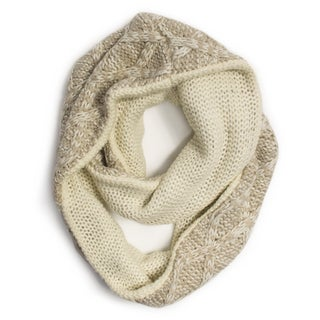 Muk Luks Women's Vanilla Textured Diamond Eternity Scarf