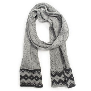 Muk Luks Women's Braided Marl Scarf