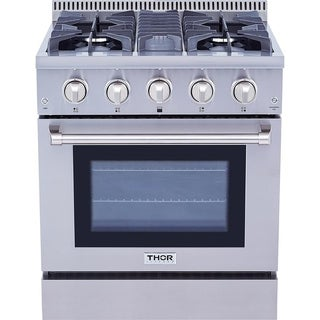 Thor Kitchen 30-inch Stainless Steel Professional Gas Range with 4 Burners|https://ak1.ostkcdn.com/images/products/10401416/P17503501.jpg?_ostk_perf_=percv&impolicy=medium