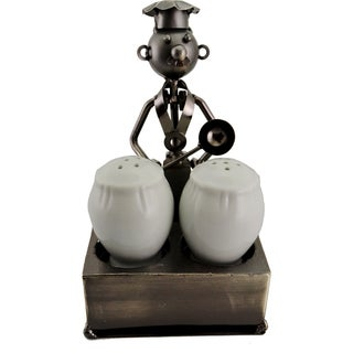 Metal Chef Salt and Pepper Holder