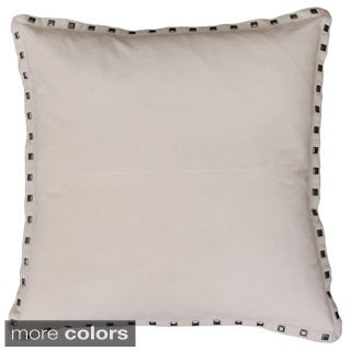 Thro by Marlo Lorenz Payton Nailhead 19-inch Feather Filled Throw Pillow