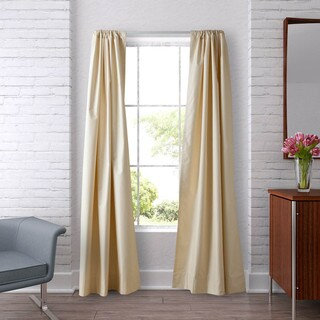 Heritage Landing 96-inch Faux Silk Lined Curtain Pair - Free ...