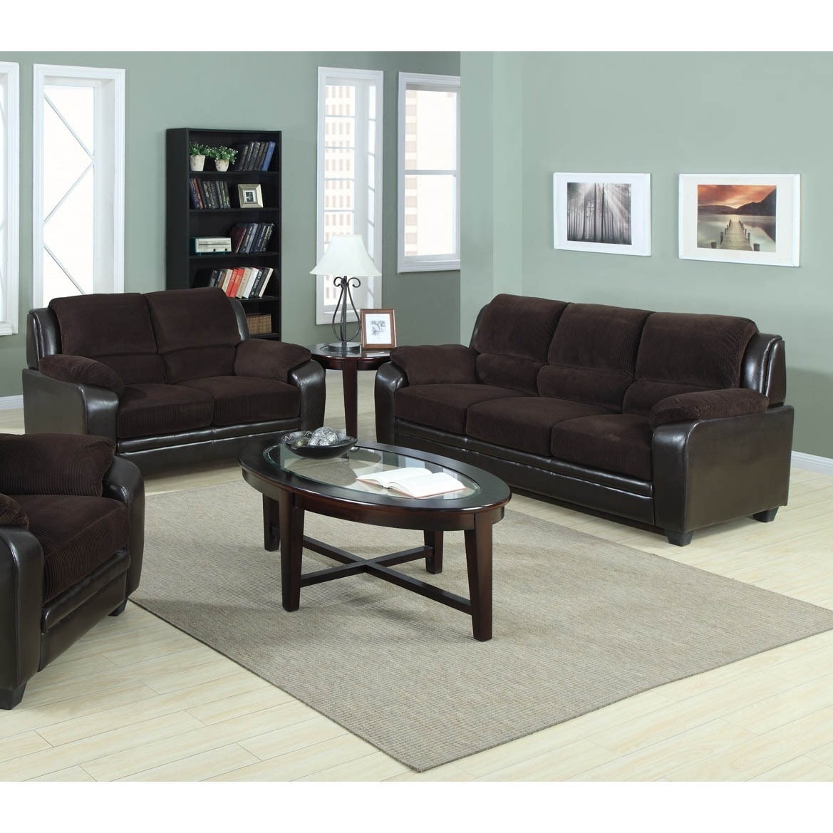 brown leather and steal set sofa furniture a coaster sets burton loveseat