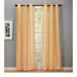 Home Fashion Designs Medici Collection Faux Silk Grommet Curtain Panels - 38 inches x 84 inches - 2-Panel Set