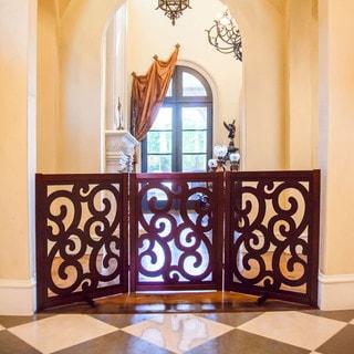 Primetime Petz Classic Designer 35-inch Free Standing Wooden Pet Gate