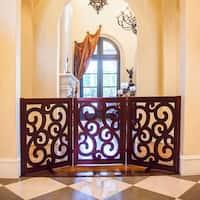 Primetime Petz Classic Designer 35-inch Freestanding Wooden Pet Gate