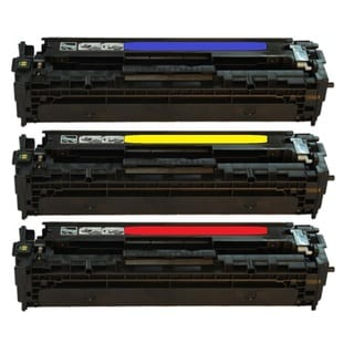 Compatible HP CB541A CB542A CB543A Yellow Magenta Cyan Toner Cartridge CM1312 MFP CM1321nfi CP1215 CP1515n CP1518ni (Pack of 3)
