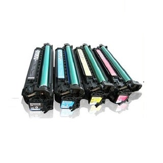 Compatible HP CE400X CE401A CE402A CE403A Black Cyan Magenta Yellow Toner Cartridge 500 M551n M551dn M551xh (Pack of 4)