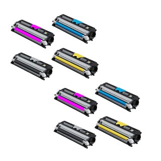Xerox 6121 Compatible Toner Cartridge 2 Black, 2 Cyan, 2 Magenta, 2 Yellow For 6121 6121N ( Pack of 8 )