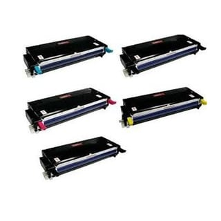 Xerox 6180 Compatible Toner Cartridge 2 Black, 1 Cyan, 1 Magenta, 1 Yellow For 6180 MFP6180 6180N 6180DN ( Pack of 5 )