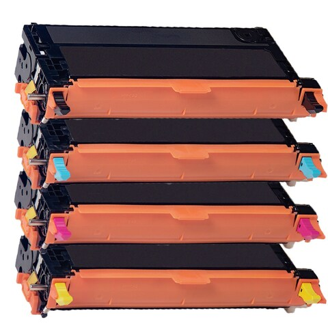 Xerox 6180 Compatible Toner Cartridge Black Cyan Magenta Yellow For 6180 MFP6180 6180N 6180DN ( Pack of 4 )