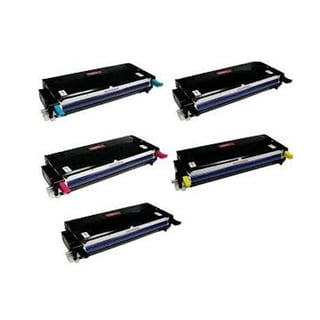 Xerox 6280 Compatible Toner Cartridge 2 Black, 1 Cyan, 1 Magenta, 1 Yellow For Phaser 6280 ( Pack of 5 )
