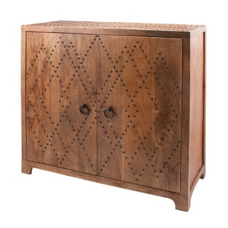 LS Dimond Home Plaid Nail Head Cabinet