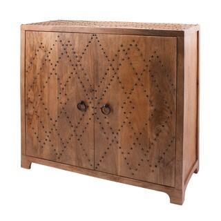 LS Dimond Home Plaid Nail Head Cabinet
