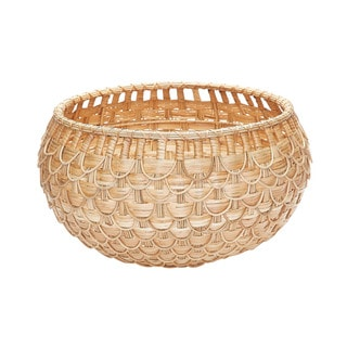 Dimond Home Medium Natural Fish Scale Basket