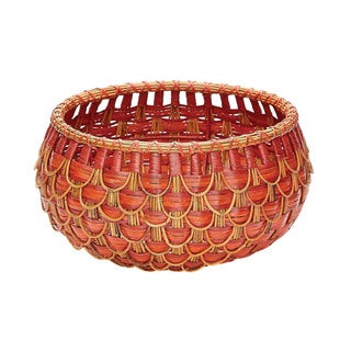 Elk Lighting Dimond Home Small Fish Scale Red and Orange Basket