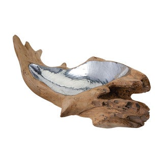 Dimond Home Short Aluminum Insert Teak Root Bowl