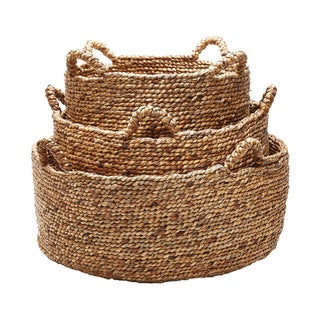 Dimond Home Natural Low Rise Baskets (Set of 3)