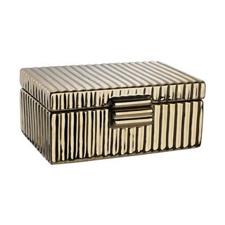 Dimond Home Ceramic Golden Jewelry Box