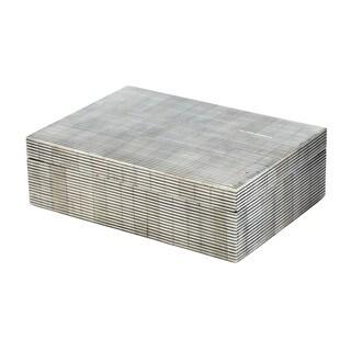 Dimond Home Large Pin Stripe Bone Box