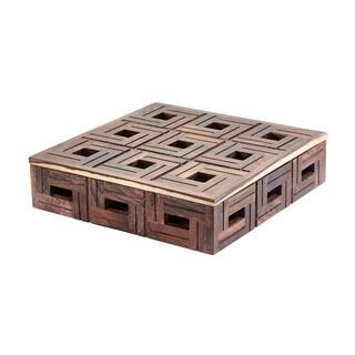 Dimond Home Chocolate Large Teak Patterned Box