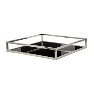 Dimond Home Black Square Box Rod Tray