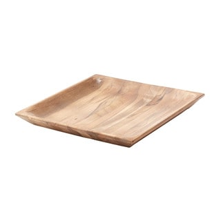 Dimond Home Large Natural Shallow Teak Tray